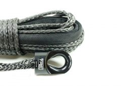 3/8 x 100 ft. Black Winch Rope  -Tactical Recovery Equipment
